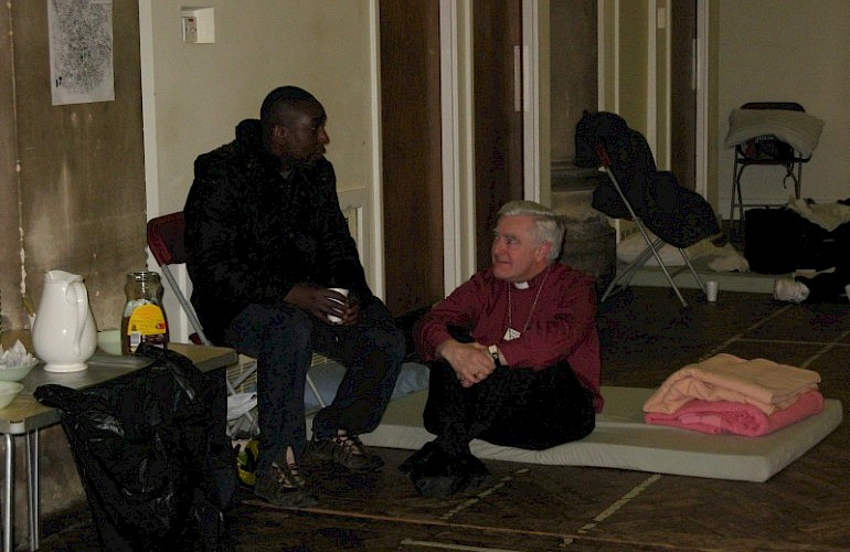 Resourcing church and community night shelters through Housing Justice. Photo courtesy of Housing Justice